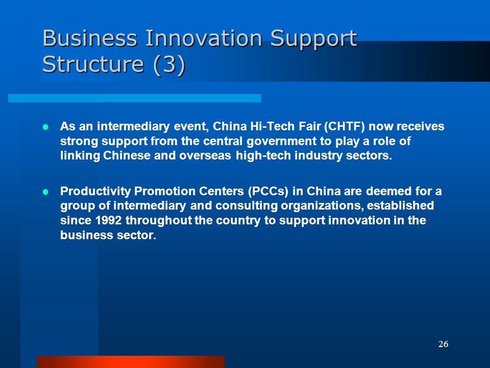 Business Innovation Support Structure (3)
