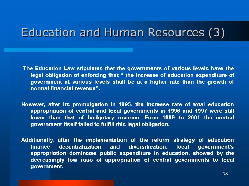 Education and Human Resources (3)