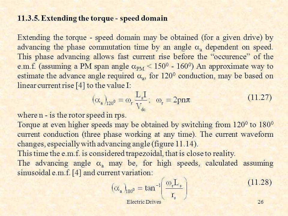 11.3.5. Extending the torque - speed domain