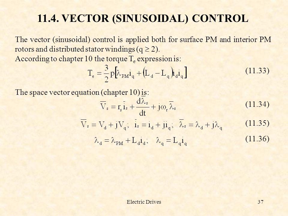 11.4. VECTOR (SINUSOIDAL) CONTROL