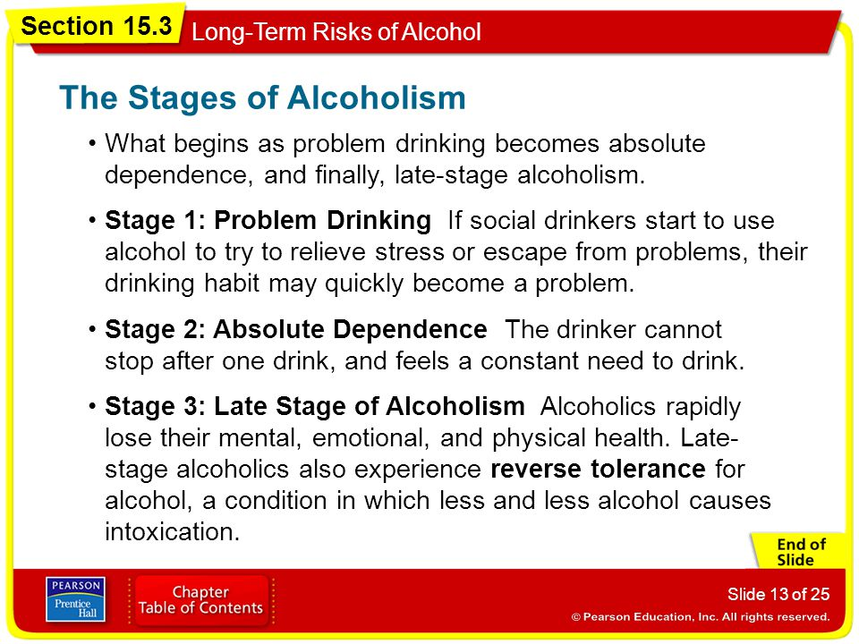 The Stages of Alcoholism