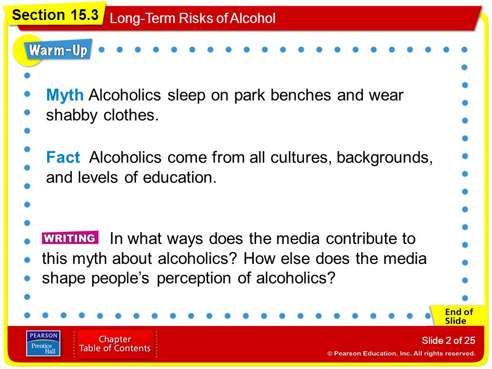 Myth Alcoholics sleep on park benches and wear shabby clothes.