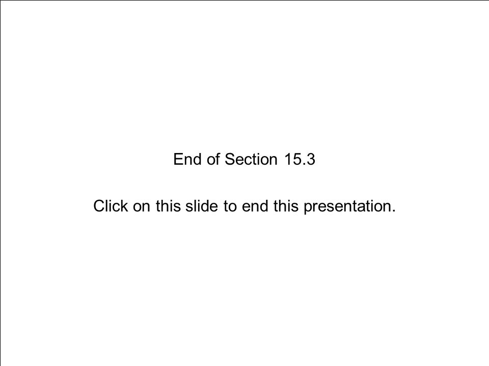 End of Section 15.3 Click on this slide to end this presentation.