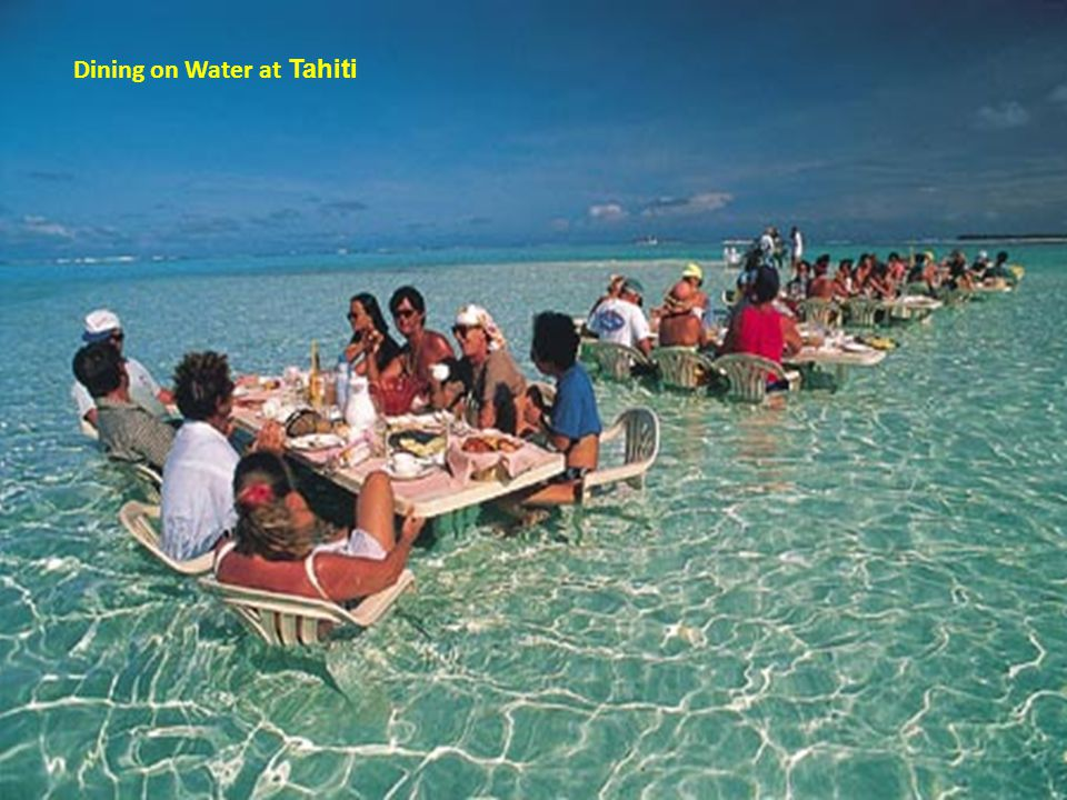 Dining on Water at Tahiti
