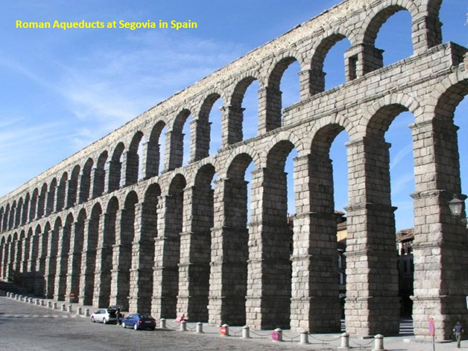 Roman Aqueducts at Segovia in Spain