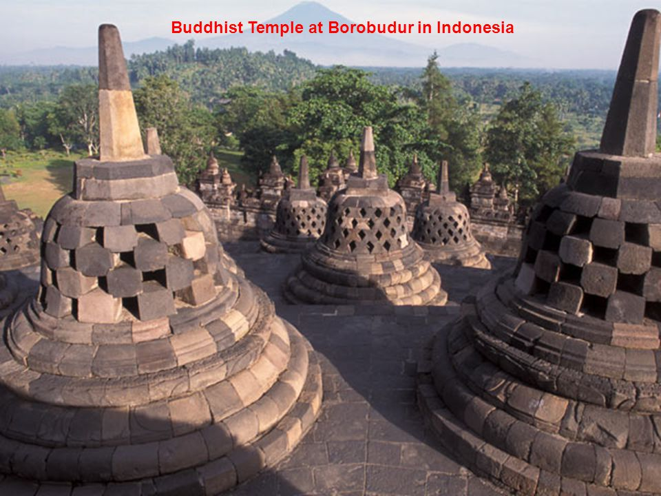 Buddhist Temple at Borobudur in Indonesia