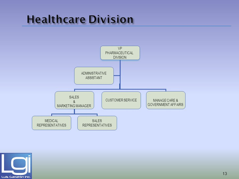 Healthcare Division VP PHARMACEUTICAL DIVISION SALES &