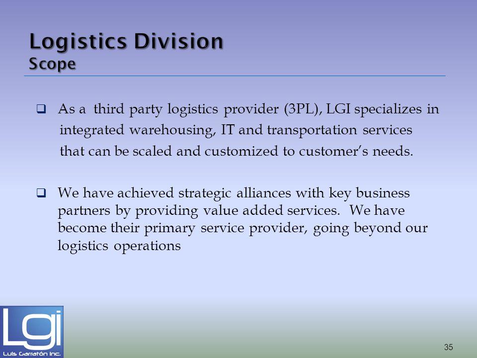 Logistics Division Scope