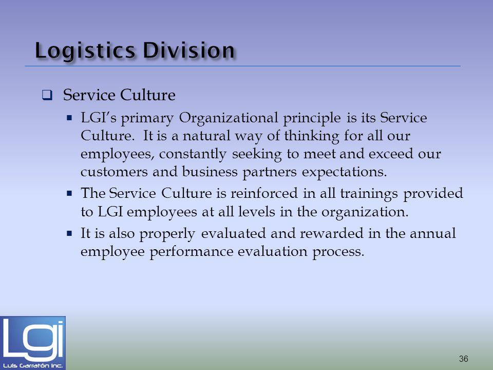 Logistics Division Service Culture