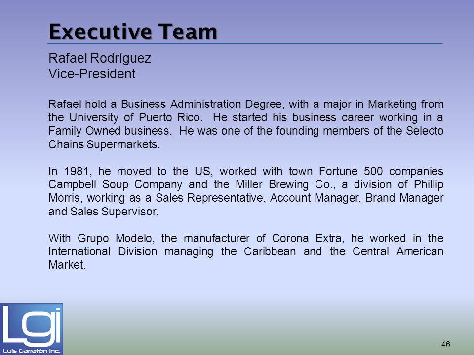 Executive Team Rafael Rodríguez Vice-President
