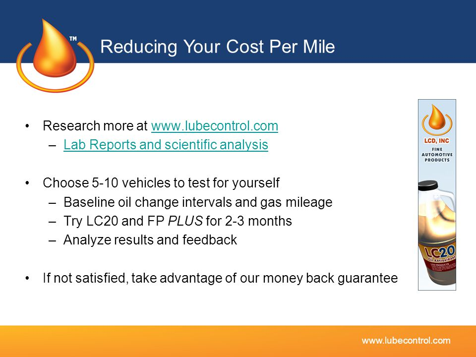 Reducing Your Cost Per Mile