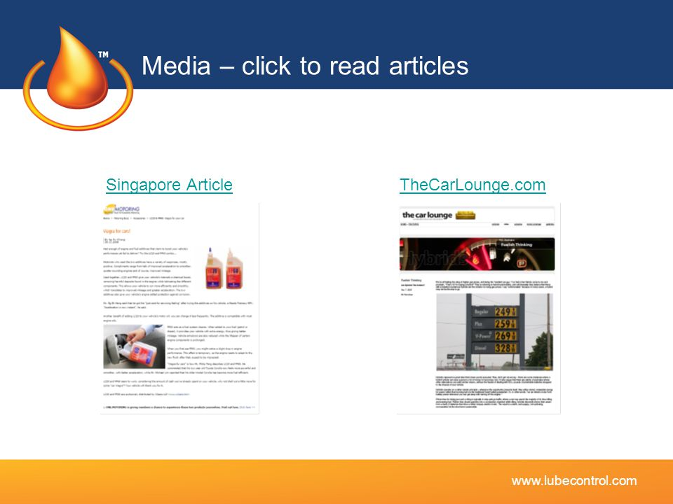 Media – click to read articles