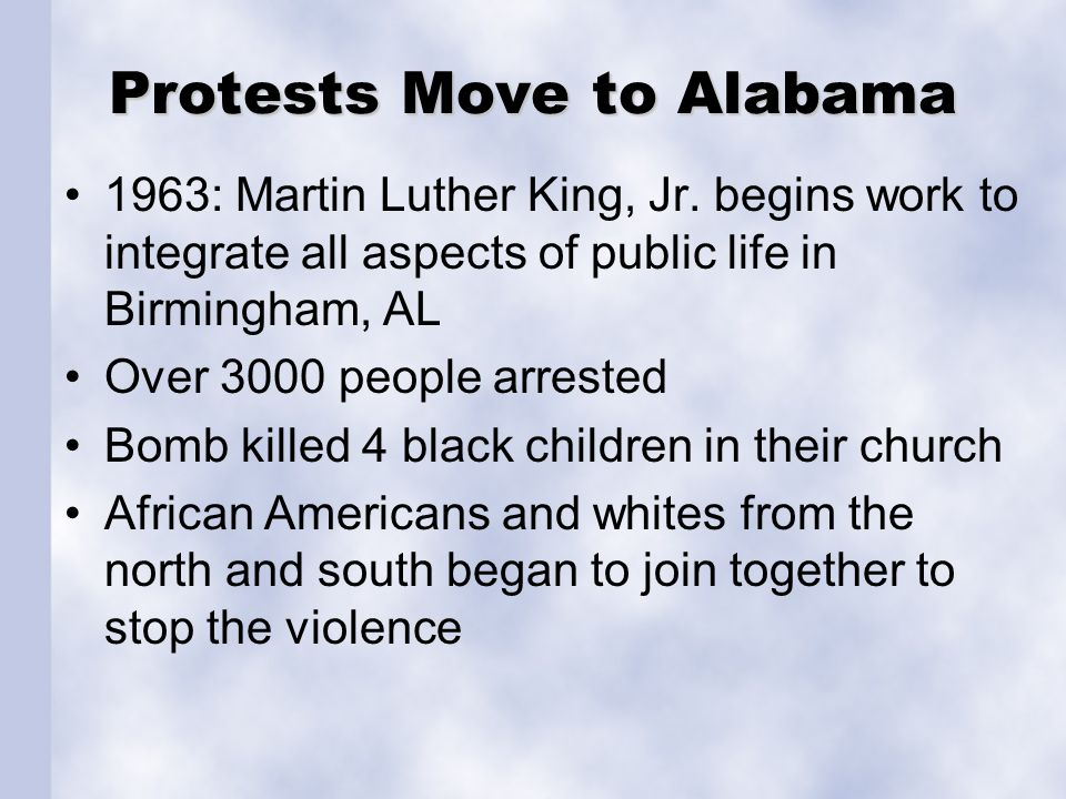 Protests Move to Alabama