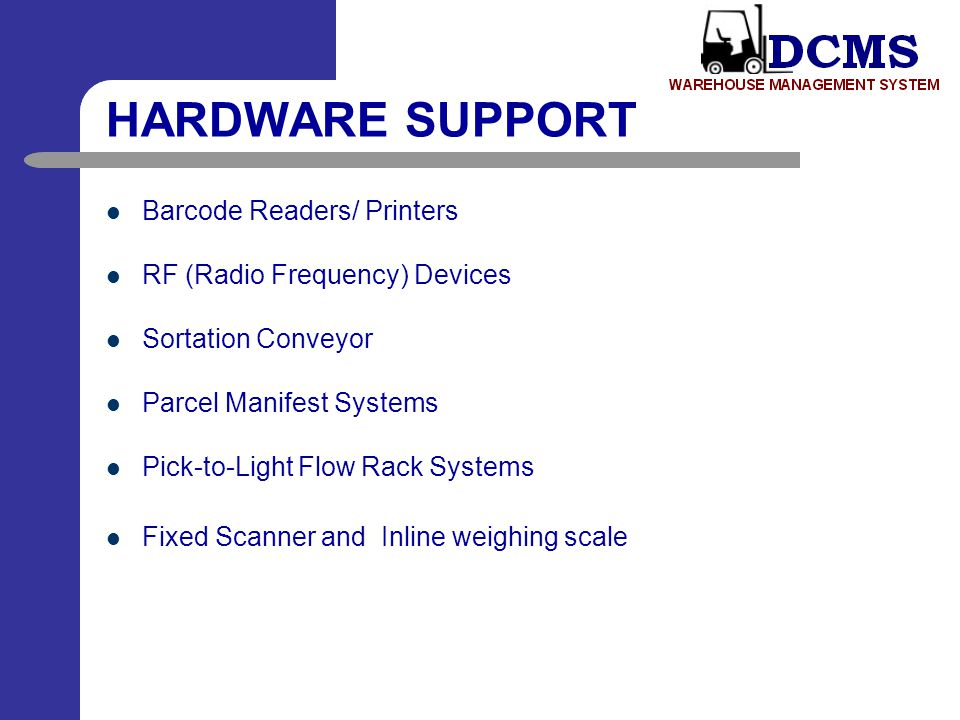 HARDWARE SUPPORT Barcode Readers/ Printers