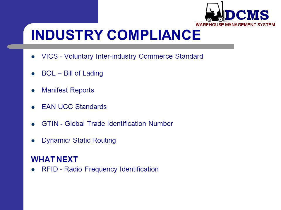 INDUSTRY COMPLIANCE WHAT NEXT