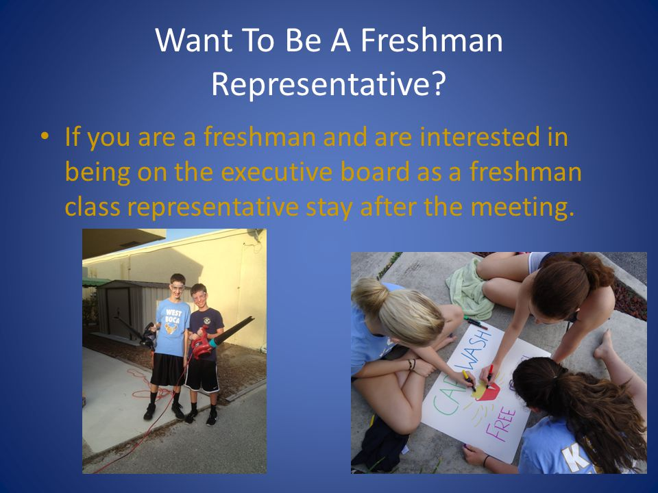 Want To Be A Freshman Representative