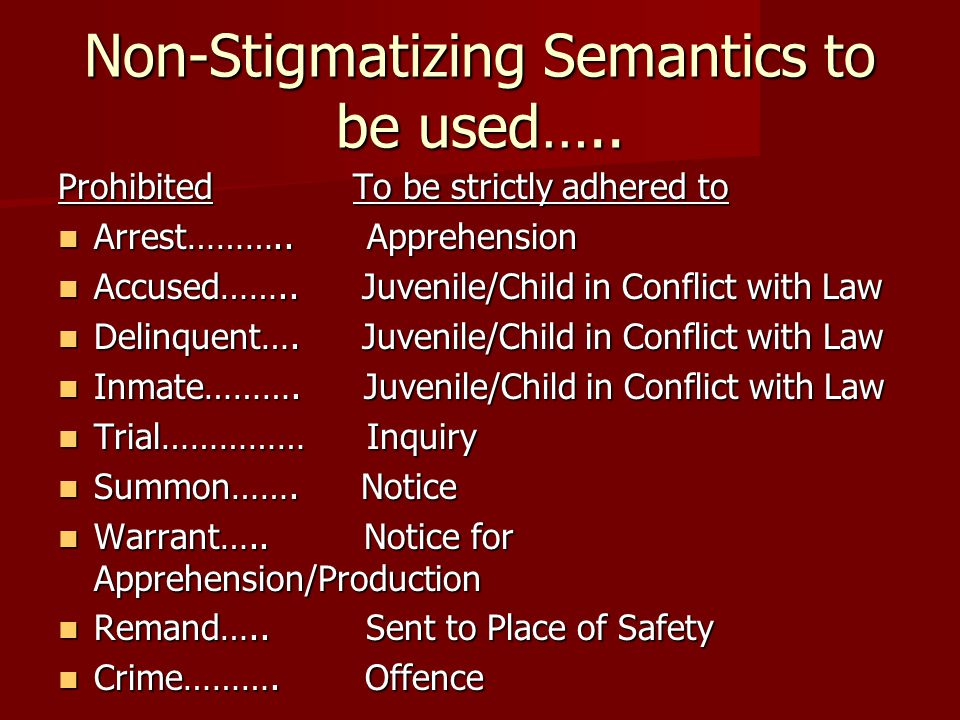 Non-Stigmatizing Semantics to be used…..
