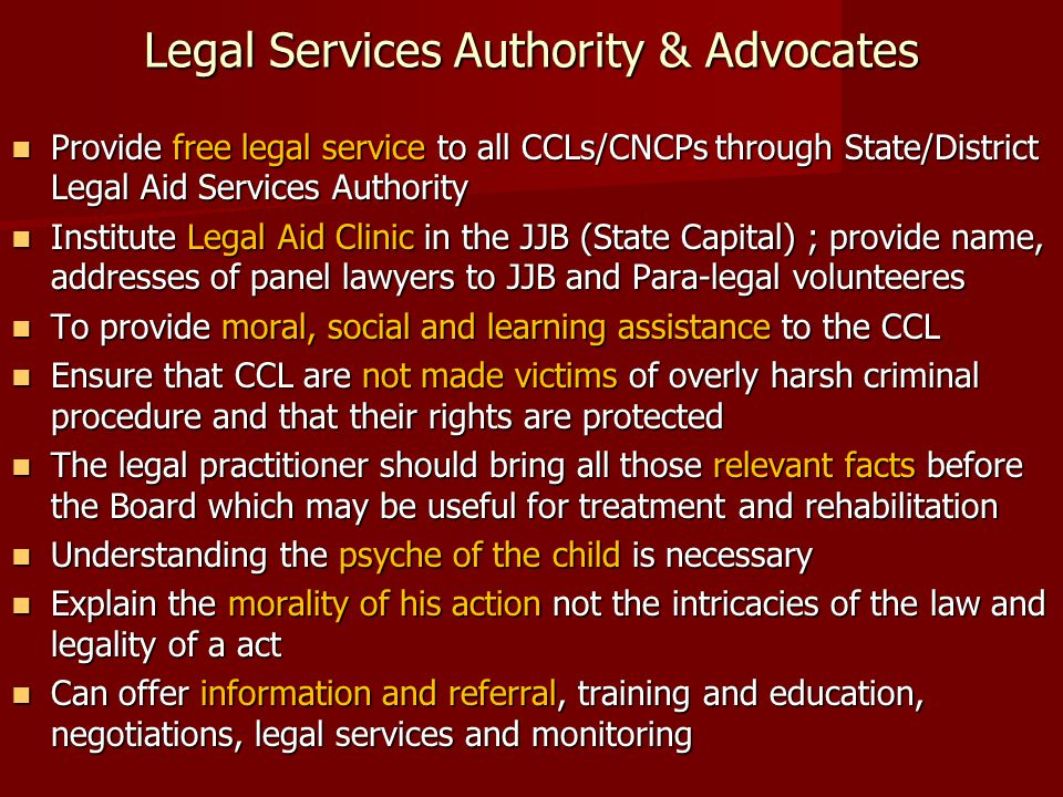 Legal Services Authority & Advocates