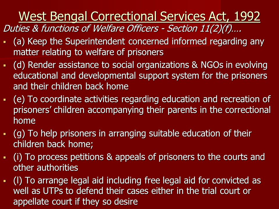 West Bengal Correctional Services Act, 1992
