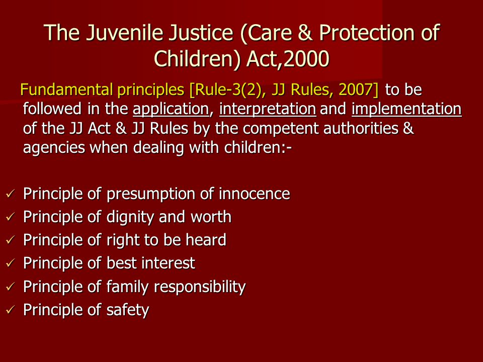 The Juvenile Justice (Care & Protection of Children) Act,2000