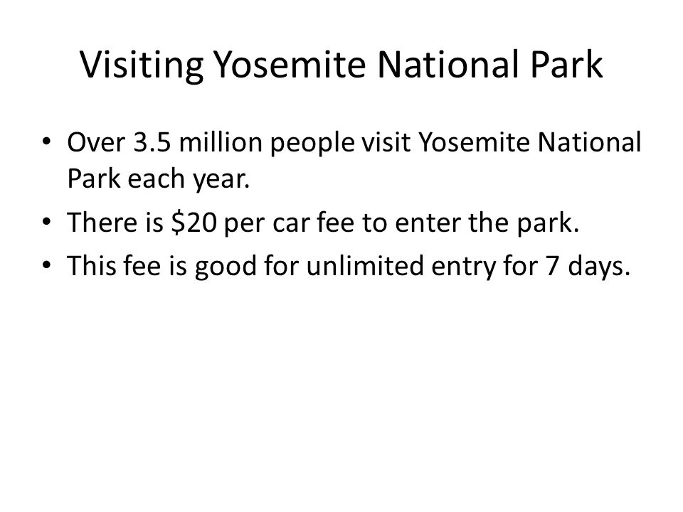Visiting Yosemite National Park