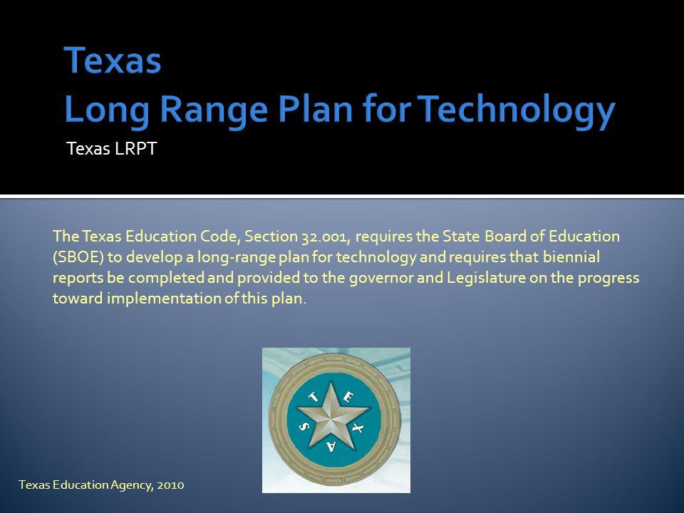 Texas Long Range Plan for Technology