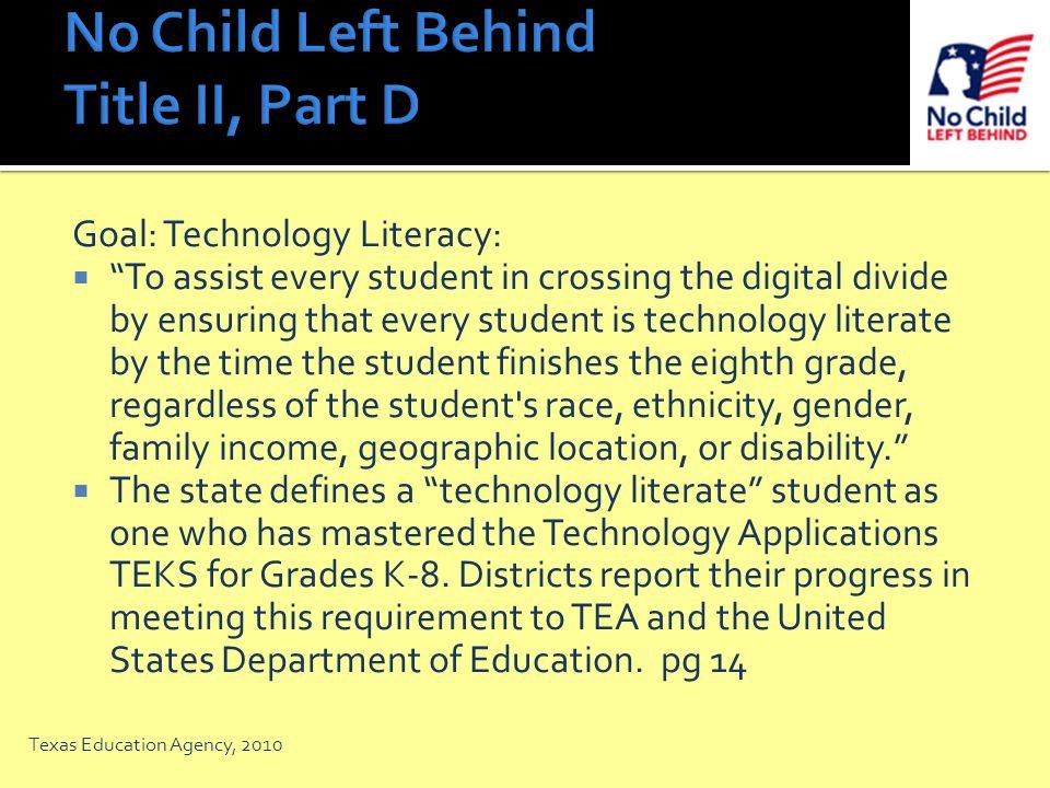 No Child Left Behind Title II, Part D