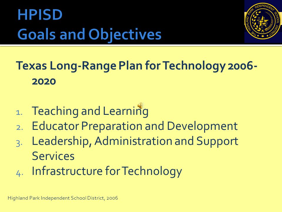 HPISD Goals and Objectives