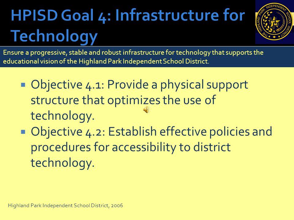 HPISD Goal 4: Infrastructure for Technology
