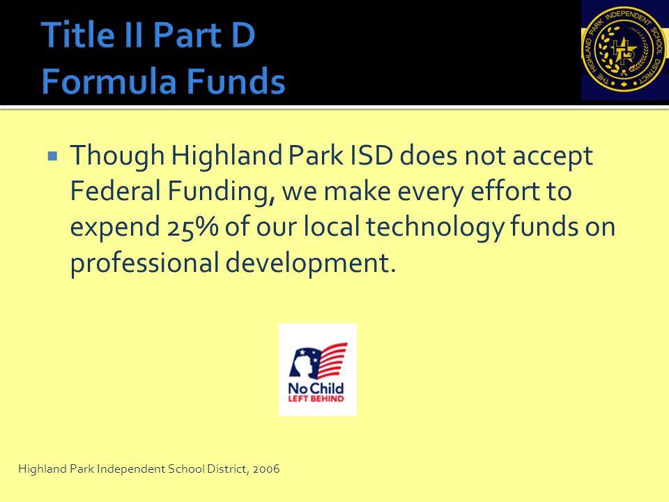 Title II Part D Formula Funds