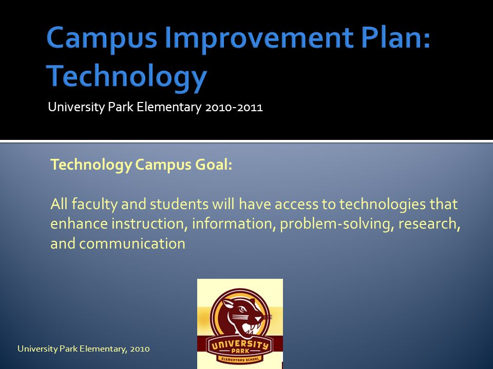 Campus Improvement Plan: Technology