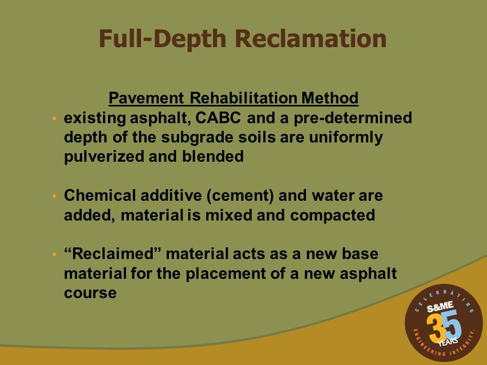 Pavement Rehabilitation Method