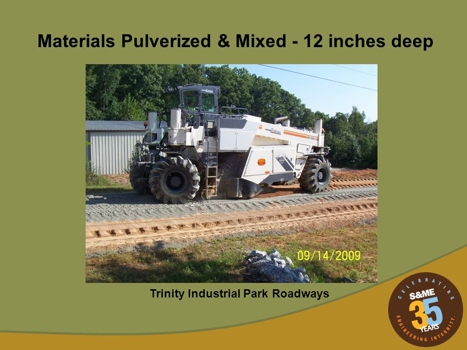 Materials Pulverized & Mixed - 12 inches deep