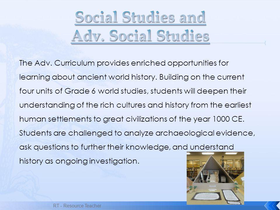 Social Studies and Adv. Social Studies