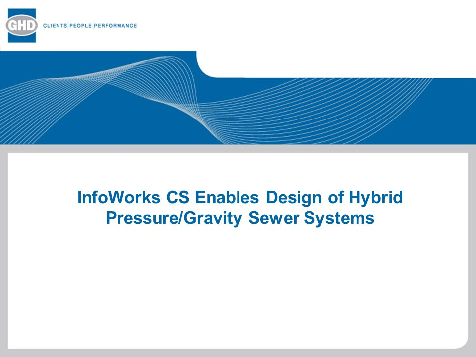 Infoworks cs enables design of hybrid pressure gravity for Gravity septic system design