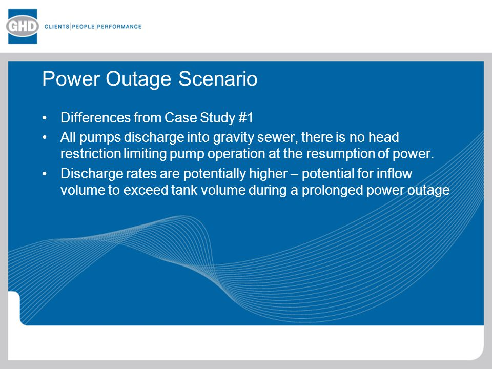 Power Outage Scenario Differences from Case Study #1