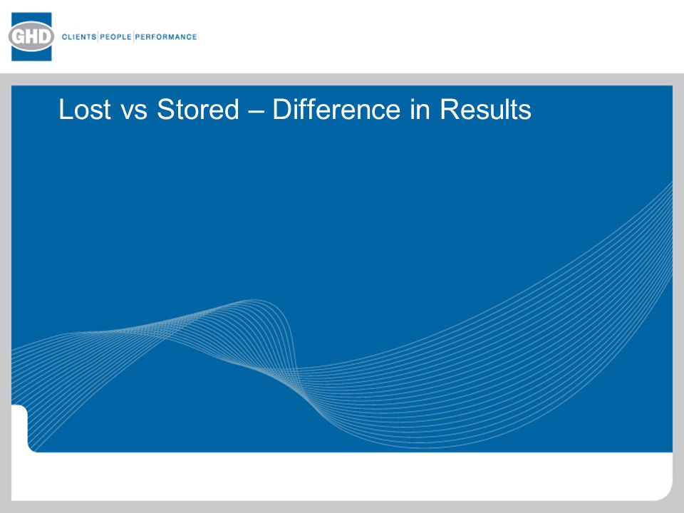 Lost vs Stored – Difference in Results