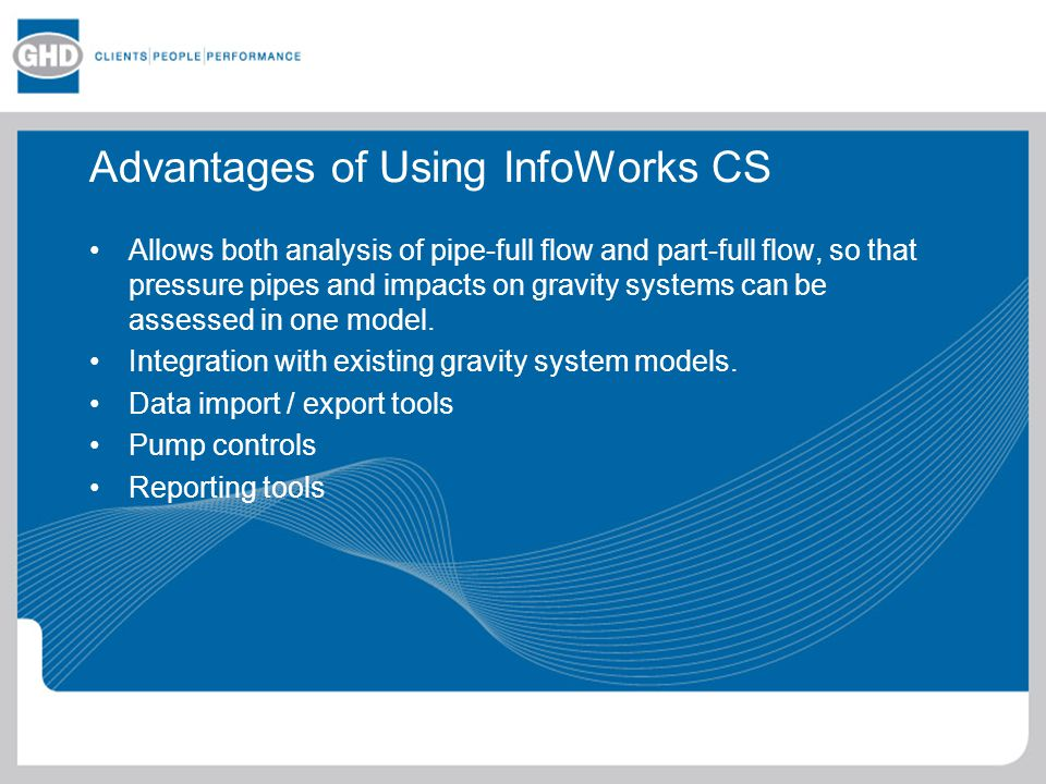 Advantages of Using InfoWorks CS