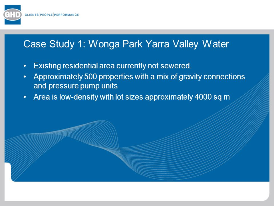 Case Study 1: Wonga Park Yarra Valley Water