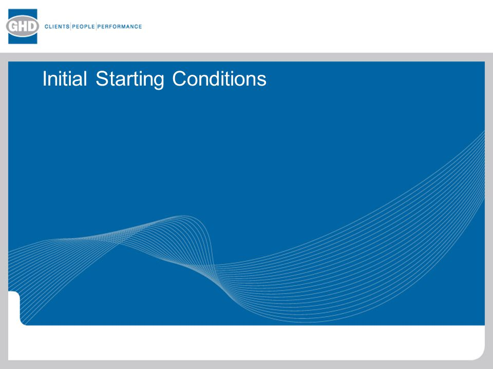 Initial Starting Conditions