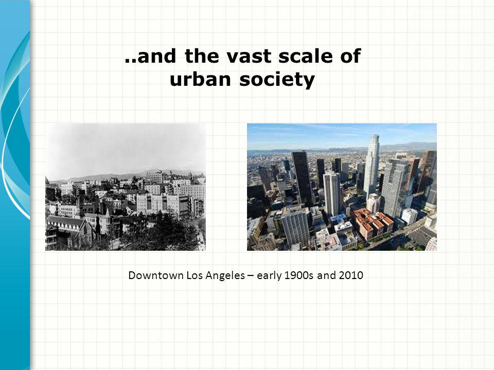 ..and the vast scale of urban society