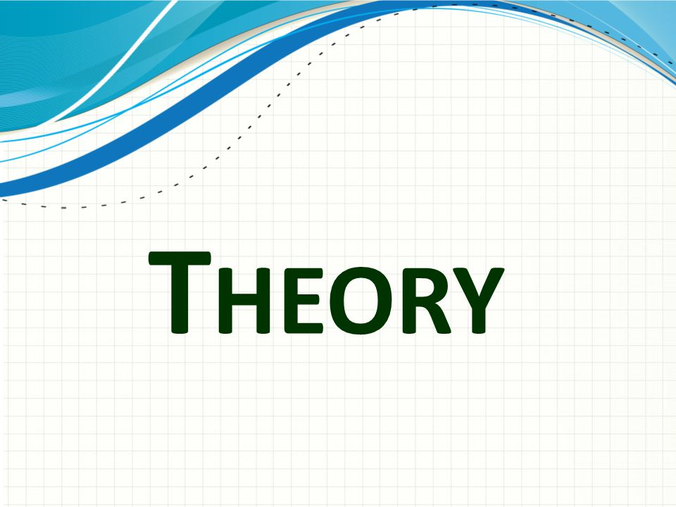 Theory Use a section header for each of the topics, so there is a clear transition to the audience.