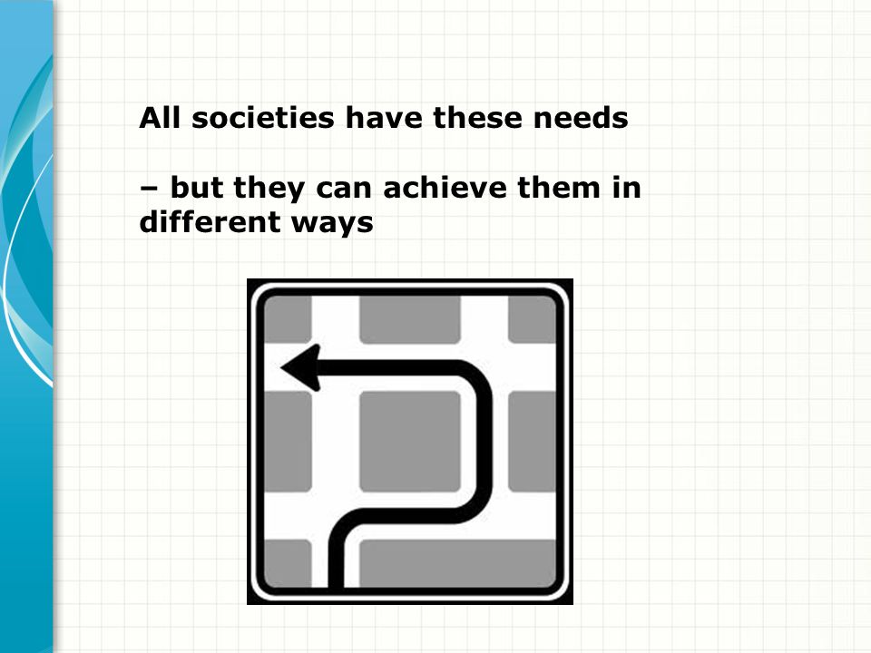 All societies have these needs