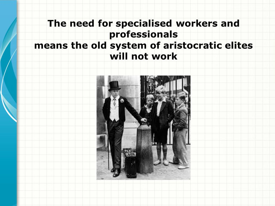 The need for specialised workers and professionals