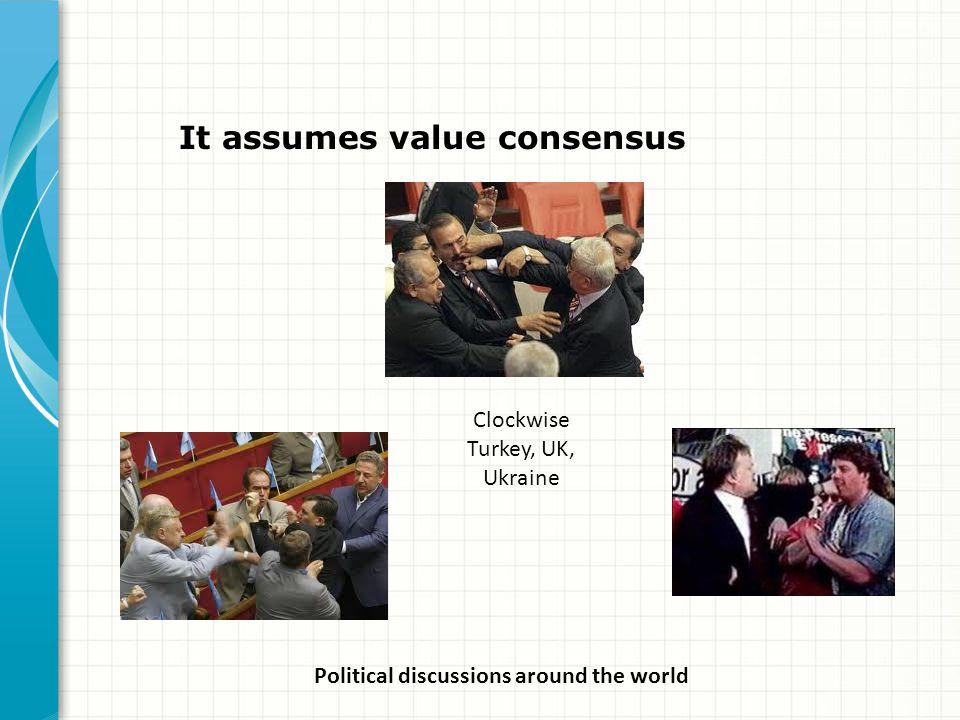 It assumes value consensus