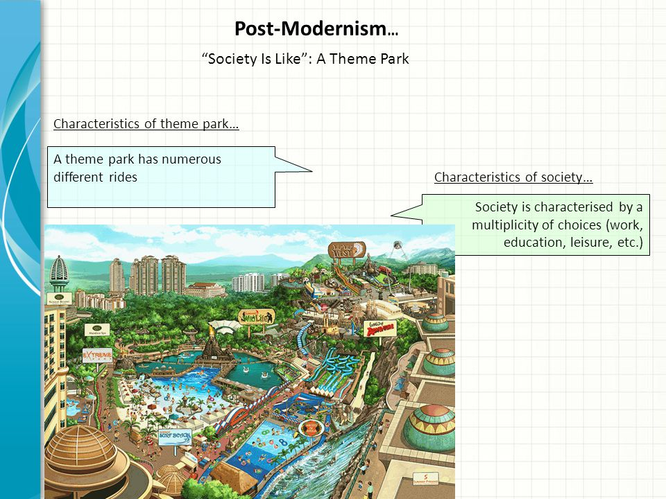 Post-Modernism… Society Is Like : A Theme Park