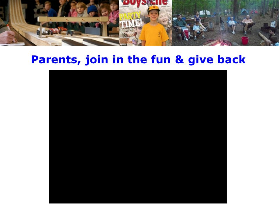 Parents, join in the fun & give back