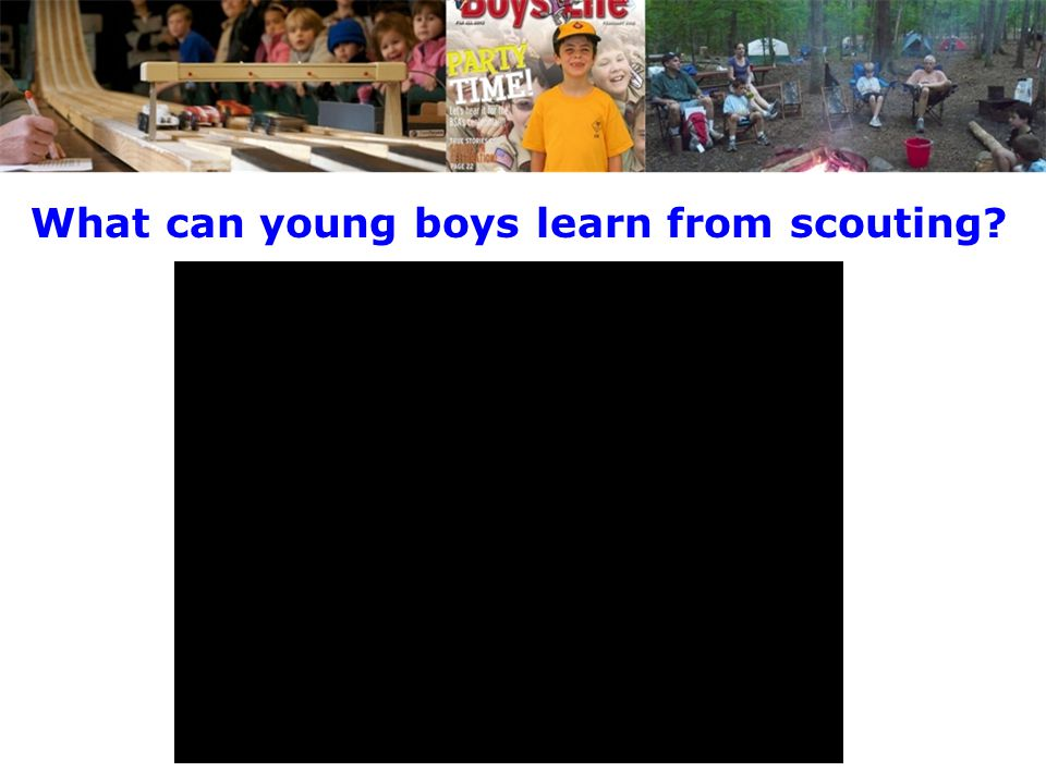 What can young boys learn from scouting
