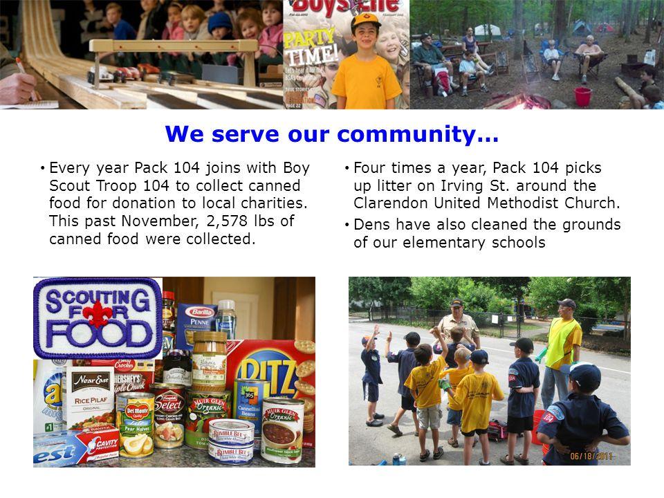 We serve our community…