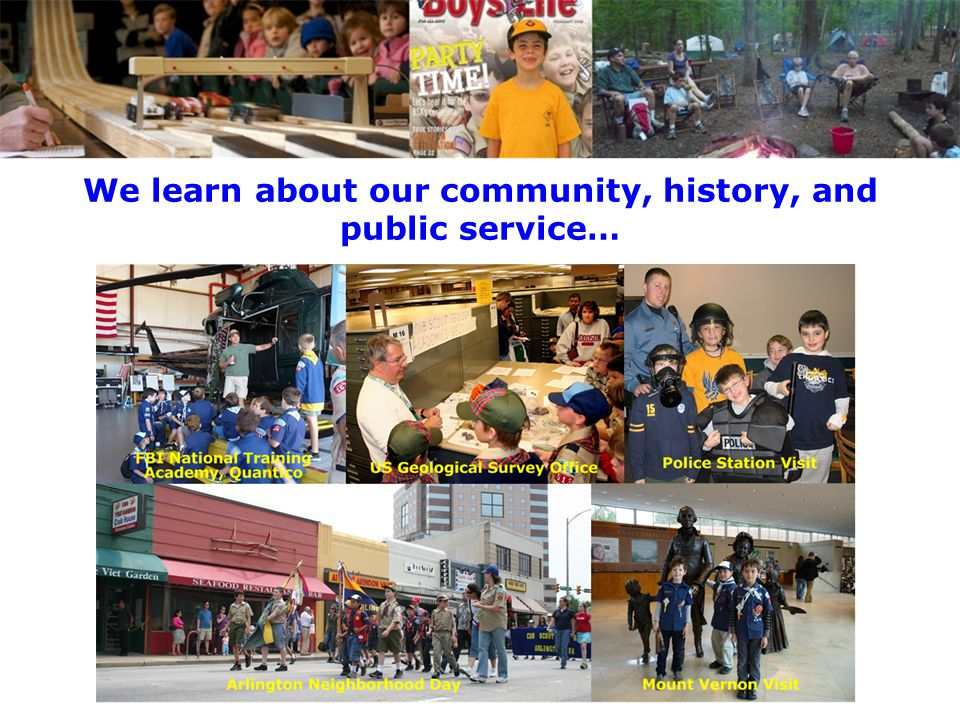 We learn about our community, history, and public service…